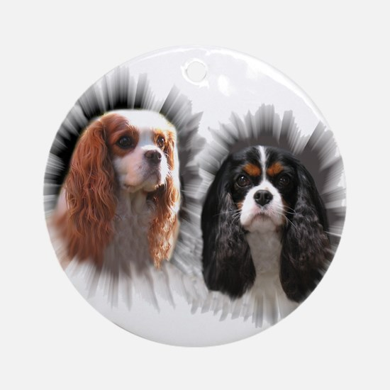 Tricolor Blenheim Cavalier Starburst Ornament (Rou
