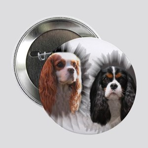 "Tricolor Blenheim Cavalier Starburst 2.25"" Button"