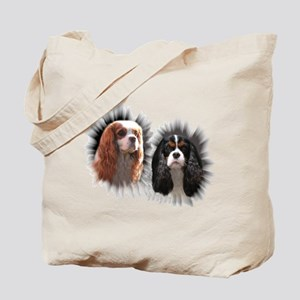 Tricolor Blenheim Cavalier Starburst Tote Bag