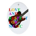 Love and respect (T) Ornament (Oval)