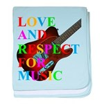 Love and respect (T) baby blanket