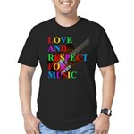 Love and respect (T) Men's Fitted T-Shirt (dark)