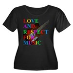Love and respect (T) Women's Plus Size Scoop Neck