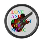 Love and respect (T) Large Wall Clock