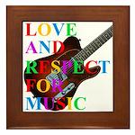 Love and respect (T) Framed Tile