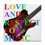 Love and respect (T) Tile Coaster