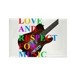 Love and respect (T) Rectangle Magnet