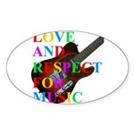 Love and respect (T) Sticker (Oval 50 pk)