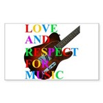Love and respect (T) Sticker (Rectangle)