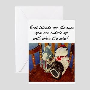 Best Friends Kitten Greeting Card