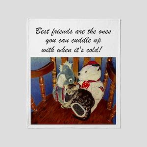 Best Friends Kitten Throw Blanket