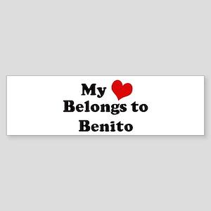 My Heart: Benito Bumper Sticker