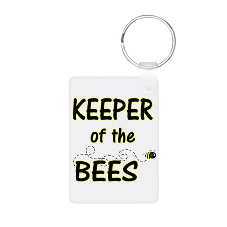 Keeper of Bees Aluminum Photo Keychain