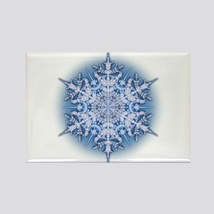 Snowflake 34 Rectangle Magnet