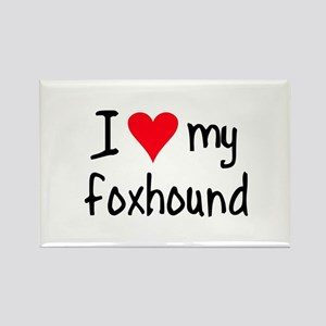 I LOVE MY Foxhound Rectangle Magnet