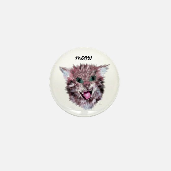 cat meow Mini Button
