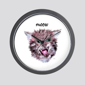 cat meow Wall Clock