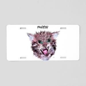 cat meow Aluminum License Plate