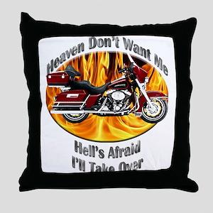 HD Electra Glide Throw Pillow