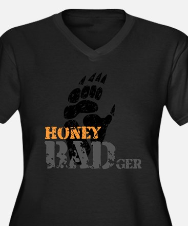 Honey Badger Dont care Women's Plus Size V-Neck Da