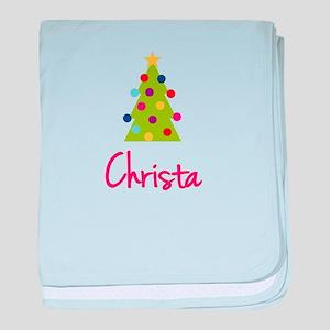Christmas Tree Christa baby blanket