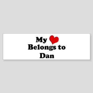 My Heart: Dan Bumper Sticker