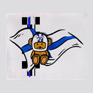 Finland Racing Throw Blanket
