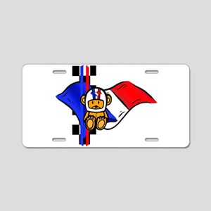 French Racing Aluminum License Plate
