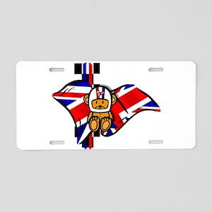 British Racing Aluminum License Plate