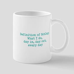 Schlep (blue) Mug