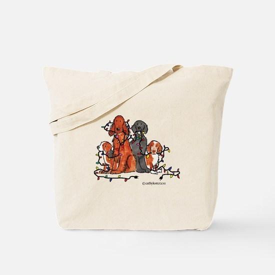 Dog Christmas Party Tote Bag