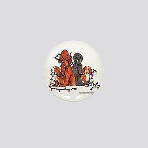 Dog Christmas Party Mini Button