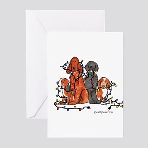 Dog Christmas Party Greeting Cards (Pk of 10)