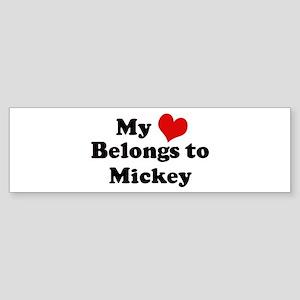 My Heart: Mickey Bumper Sticker
