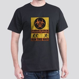 Zombie Attack Emergency Shelter Dark T-Shirt