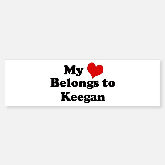 My Heart: Keegan Bumper Bumper Bumper Sticker