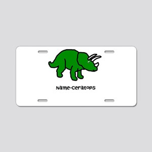 Name your own Triceratops! Aluminum License Plate