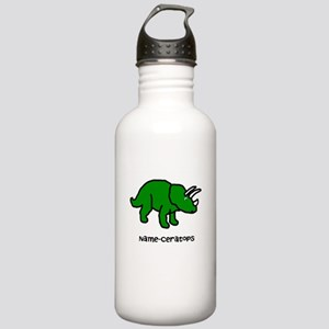 Name your own Triceratops! Stainless Water Bottle