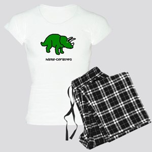 Name your own Triceratops! Women's Light Pajamas