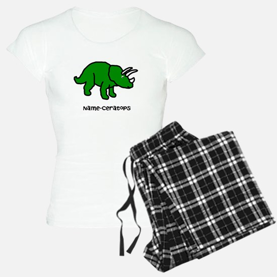 Name your own Triceratops! Pajamas