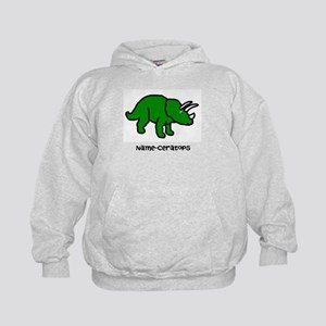 Name your own Triceratops! Kids Hoodie