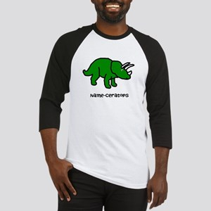 Name your own Triceratops! Baseball Jersey