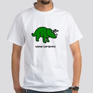 Name your own Triceratops! White T-Shirt