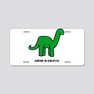 Name your own Brachiosaurus! Aluminum License Plat