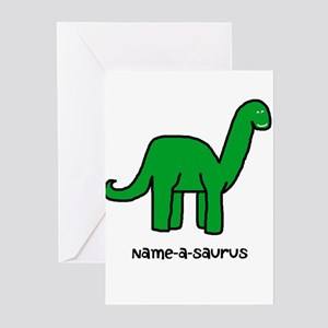 Name your own Brachiosaurus! Greeting Cards (Pk of