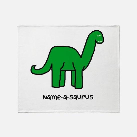 Name your own Brachiosaurus! Throw Blanket
