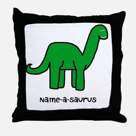Name your own Brachiosaurus! Throw Pillow