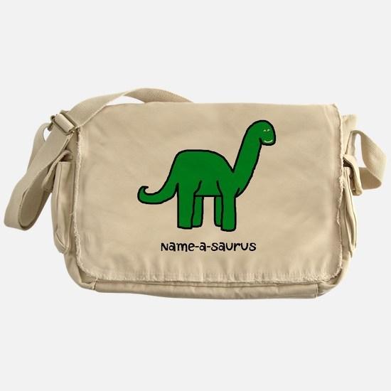 Name your own Brachiosaurus! Messenger Bag