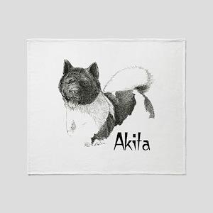 Akita Title Throw Blanket