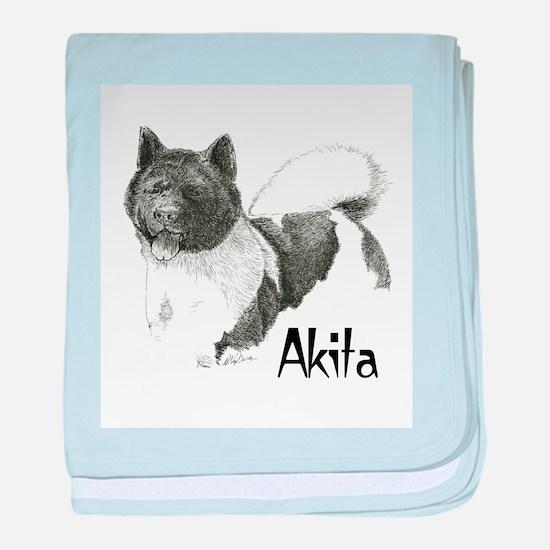 Akita Title baby blanket